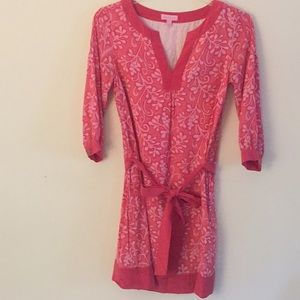 Lilly Pulitzer Pink & White Silk Shift - Size 4